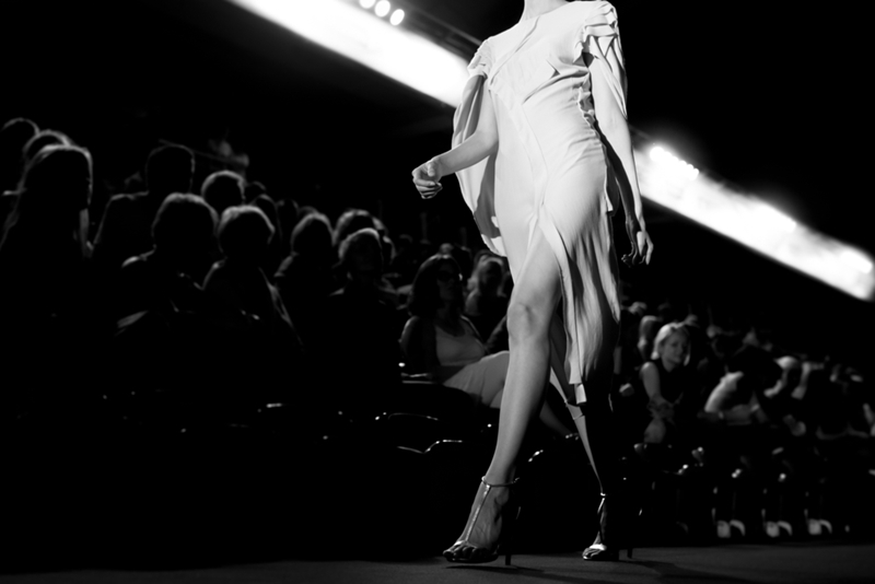 On the checklist: make sure your fashion show catwalk is carpeted to limit scuffing and slips.